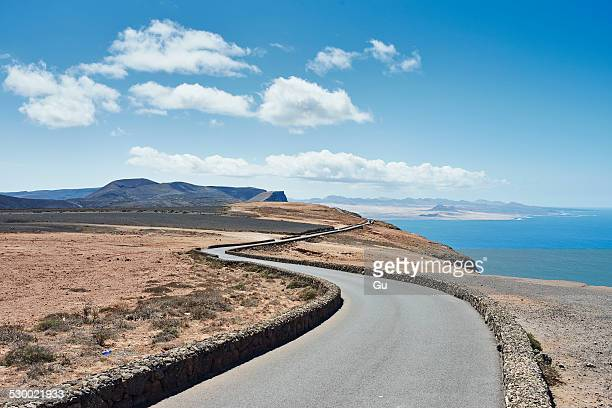 Coastal road, Lanzarote, Spain