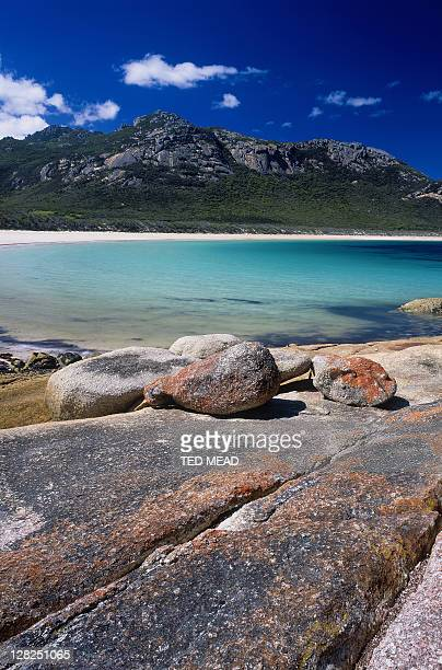 coastal scene from traiser point, strzelecki np, flinders island, tasmania