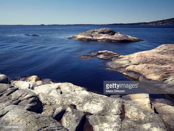 Coastal seascape with rocks, Kristiansand, Norway