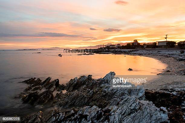 Coastal sunset, Kaikoura, New Zealand