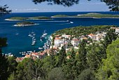Coastal town in the island of Hvar, Dalmatia