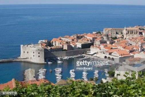Coastal town of Dubrovnik, Dalmatia : Stock Photo