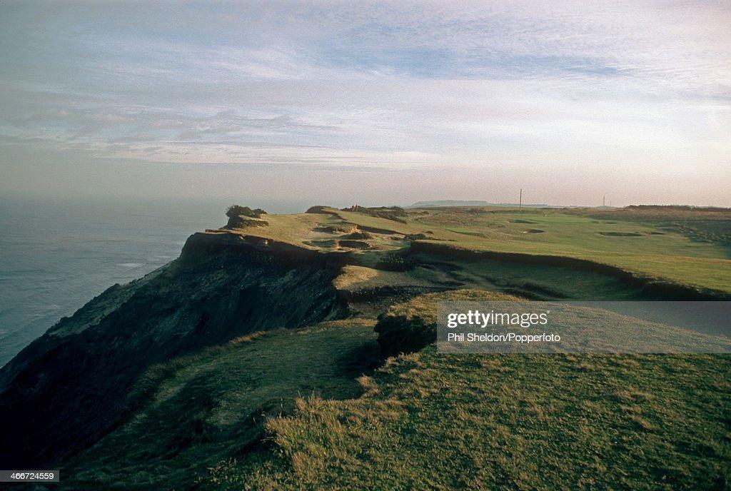 A coastal view of the Royal Cromer Golf Course in Norfolk circa 1999