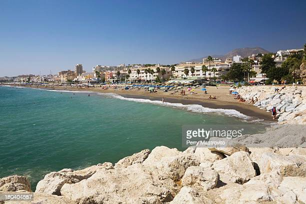 Coastal view of Torremolinos, Malaga, Spain