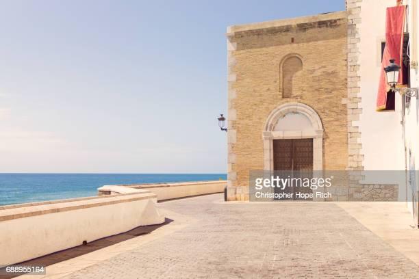 Coastline and church at Sitges