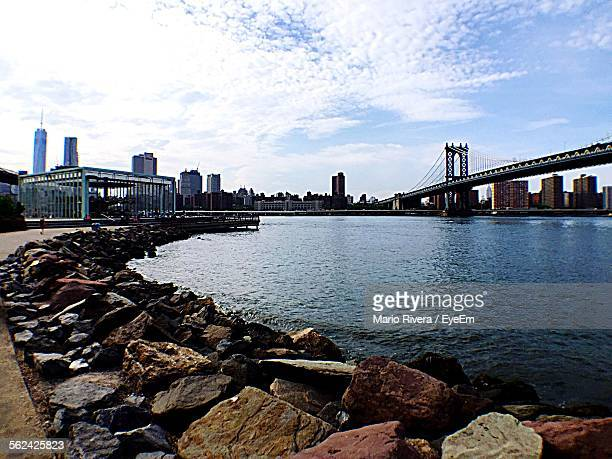 Coastline And Manhattan Bridge