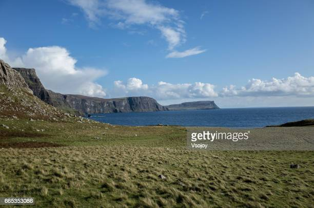 Coastline and the beautiful sky, Neist Point, Glendale, Isle of Skye, Scotland
