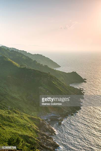 Coastline at sunset, Basque country, Spain