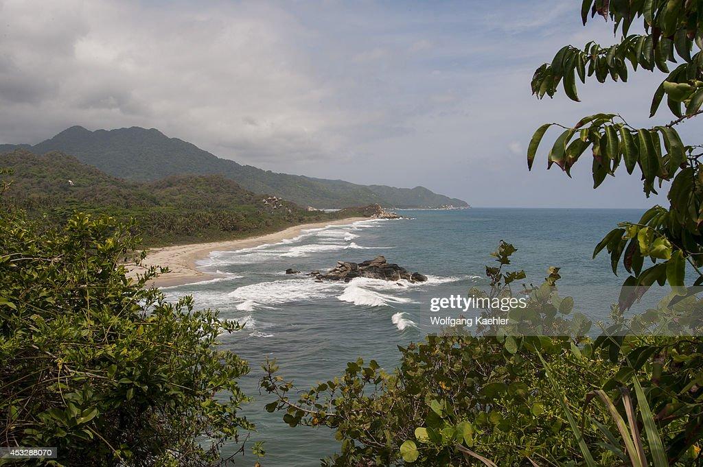 Coastline at Tayrona National Park Santa Marta Colombia