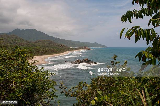 Coastline at Tayrona National Park Santa Marta Colombia