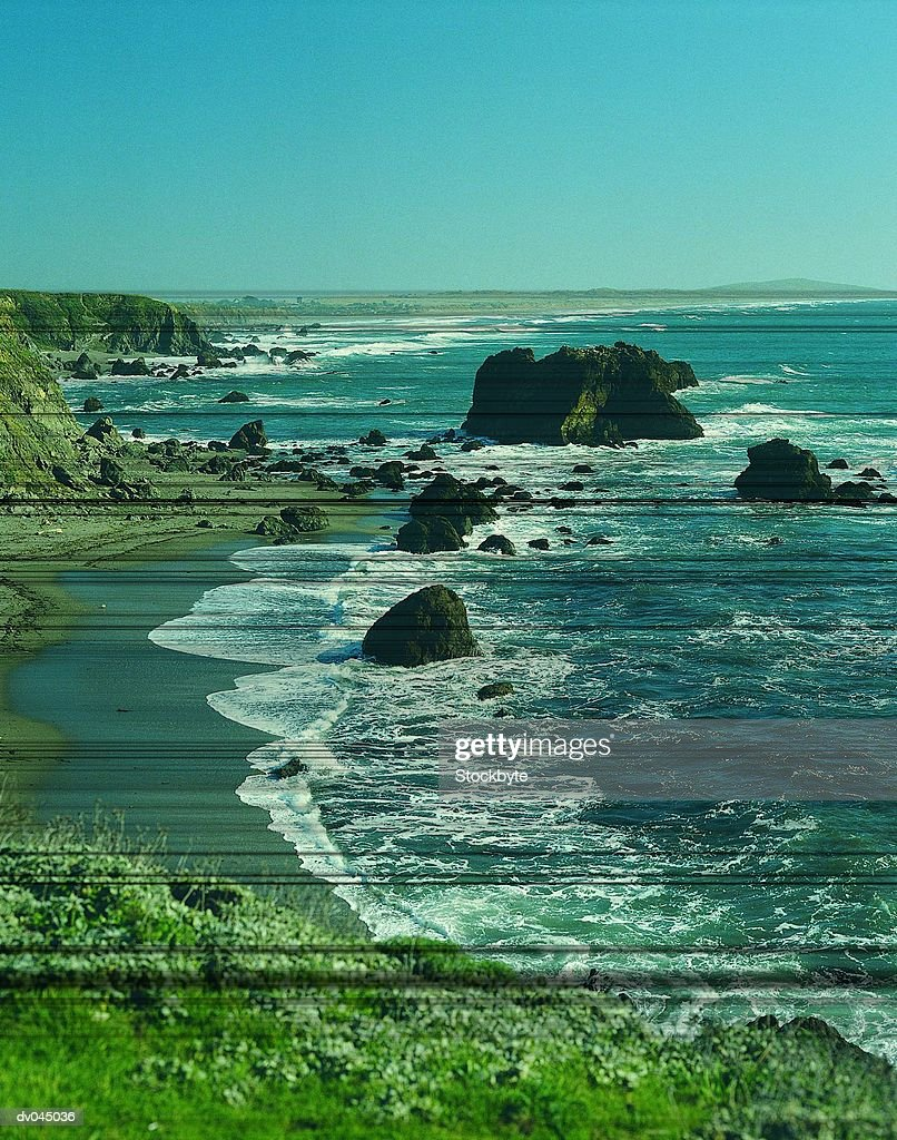 Coastline near Sonoma, California, USA : Stock Photo