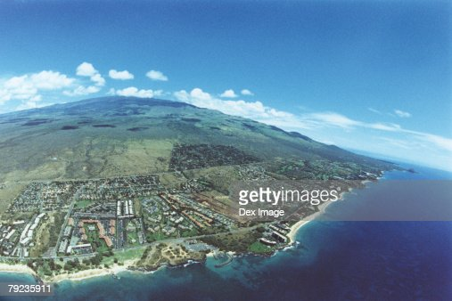 Coastline of Maui, Hawaii, Aerial view : Stock Photo