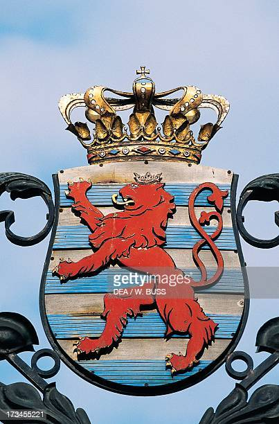 Coat of arms with lion rampant Luxembourg City Luxembourg