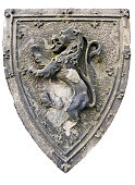 Coat of arms with standing lion
