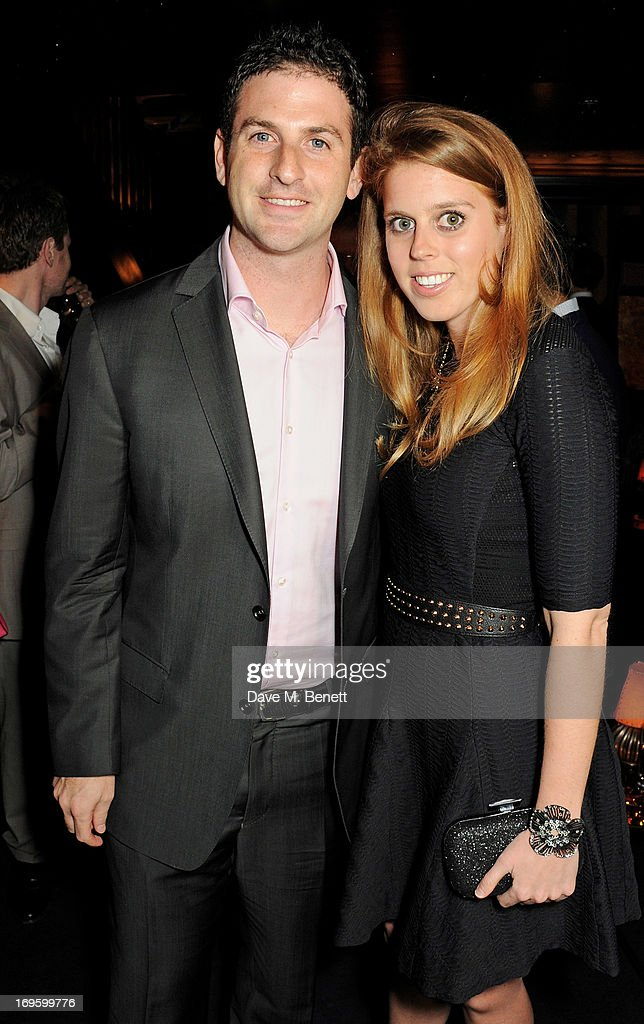 Co-Author and Director of Google Ideas Jared Cohen (L) and Princess Beatrice of York attend the launch of 'The New Digital Age: Reshaping The Future Of People, Nations and Business' by Eric Schmidt and Jared Cohen, hosted by Jamie Reuben, at Loulou's on May 28, 2013 in London, England.