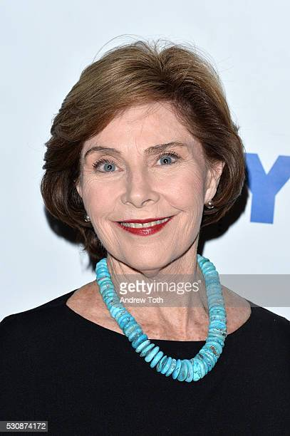 Coauthor and former First Lady Laura Bush attends 92Y Talks Laura Bush Jenna BushHager on May 11 2016 in New York New York