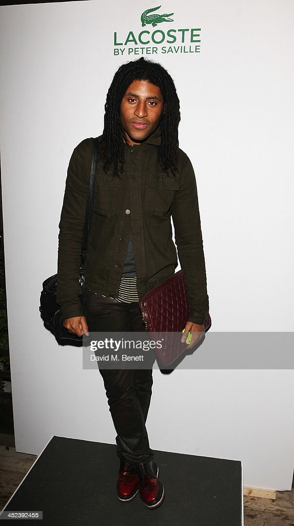 Cobbie Yates attends the Peter Saville for Lacoste launch at Shoreditch House on November 28, 2013 in London, England.