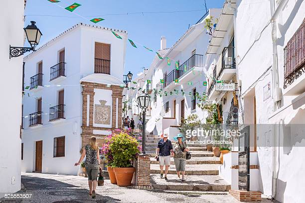 cobbled alleyways at Frigiliana