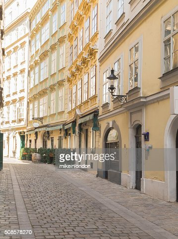 Cobbled Streets in Vienna : Stock Photo