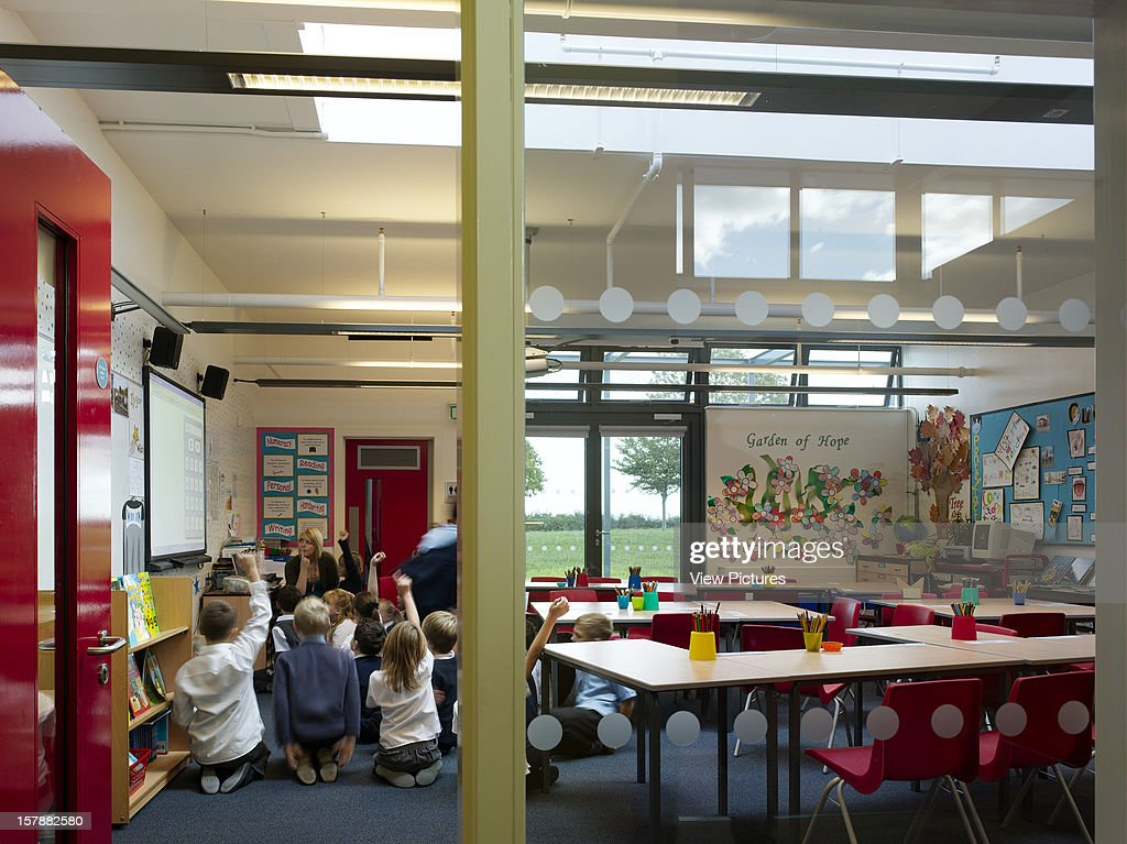 Cobblers Lane School, Pontefract, United Kingdom, Architect Walters And Cohen, 2007, Cobblers Lane School View Through Class From Door.