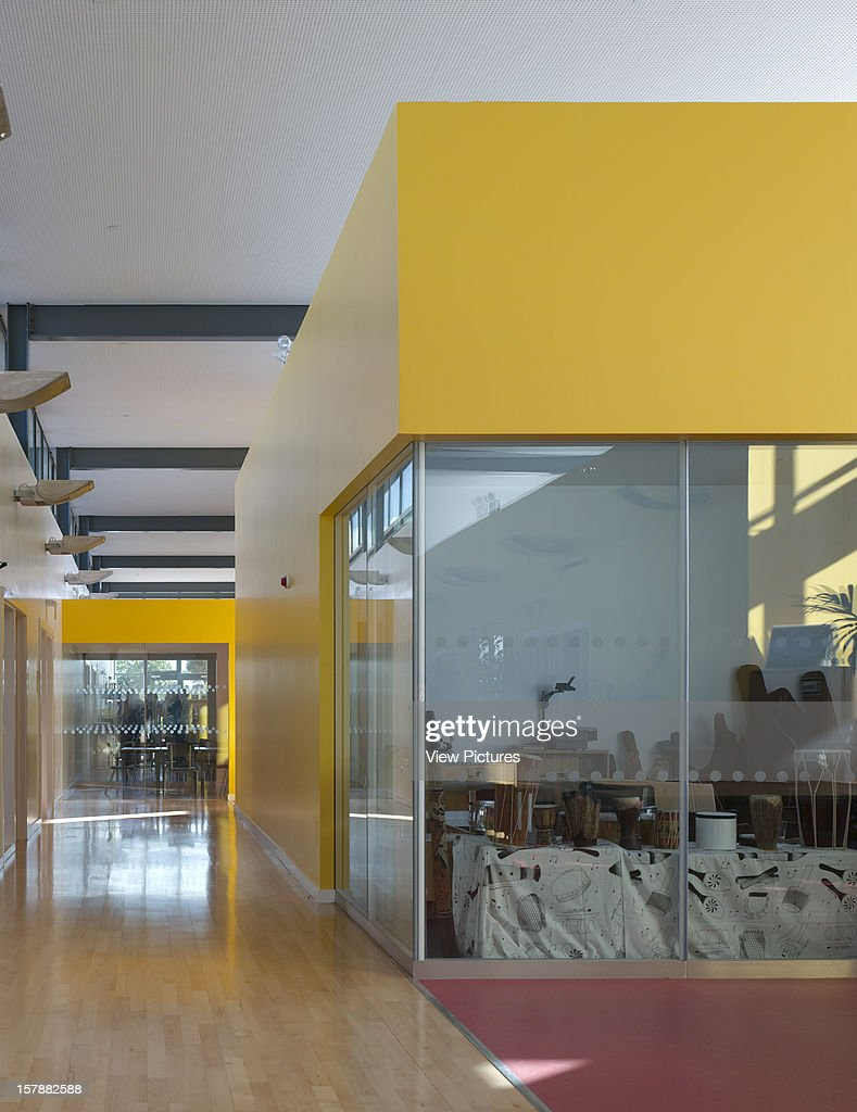Cobblers Lane School, Pontefract, United Kingdom, Architect Walters And Cohen, 2007, Cobblers Lane School Internal Street With Music Room.