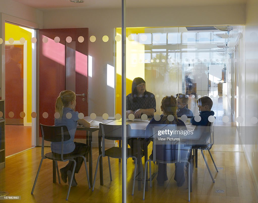 Cobblers Lane School, Pontefract, United Kingdom, Architect Walters And Cohen, 2007, Cobblers Lane School Glazed Classroom Within Internal Street.
