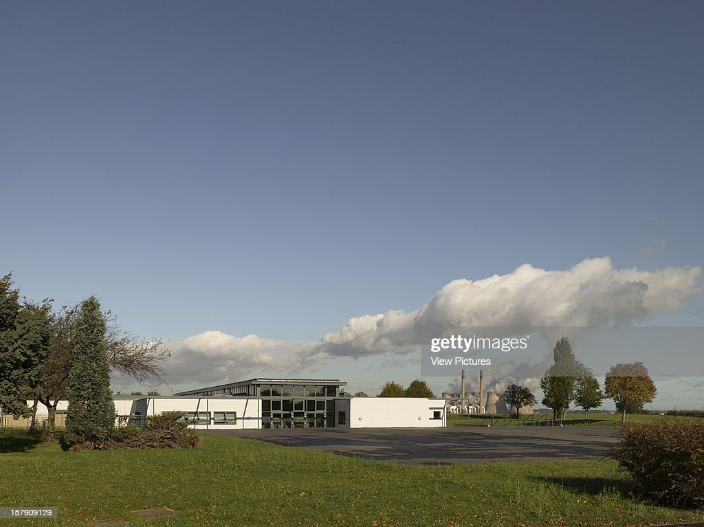Cobblers Lane School, Pontefract, United Kingdom, Architect Walters And Cohen, 2007, Cobblers Lane School View From Fields With Power Station.