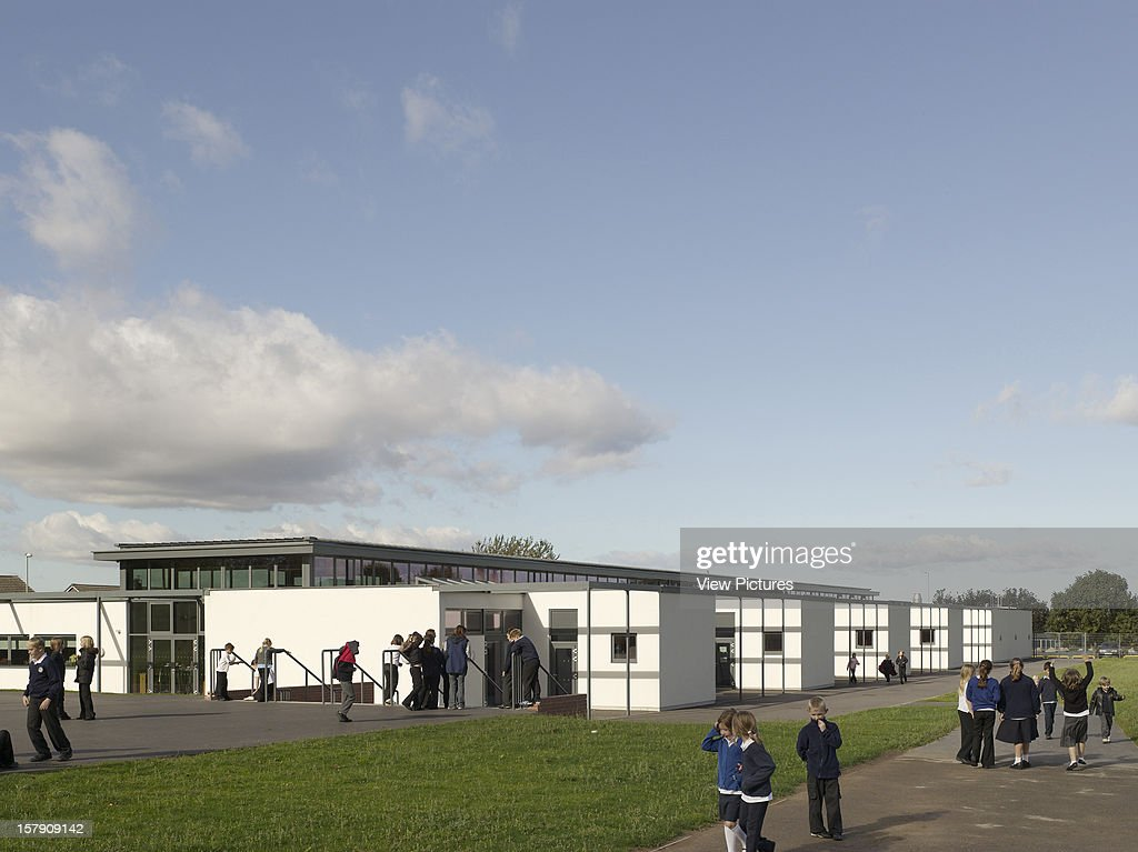 Cobblers Lane School, Pontefract, United Kingdom, Architect Walters And Cohen, 2007, Cobblers Lane School View From Playground.
