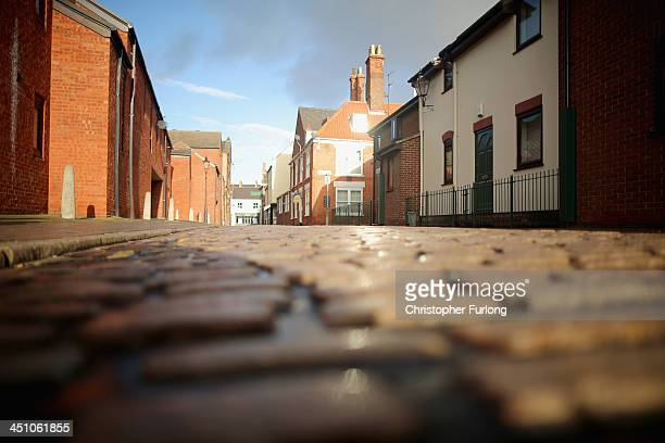 Cobbles adorn the streets in the Old Town area of Hull after the city was announced as the 2017 UK City of Culture on November 21 2013 in Hull...