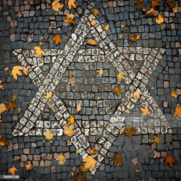 Cobblestone mosaic Star of David