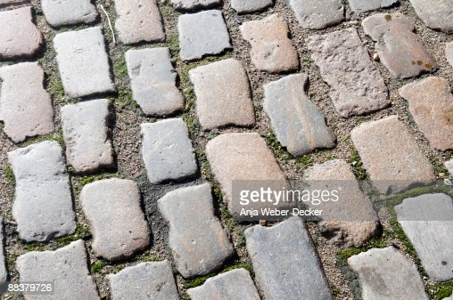 Cobblestone pavement, (full frame)