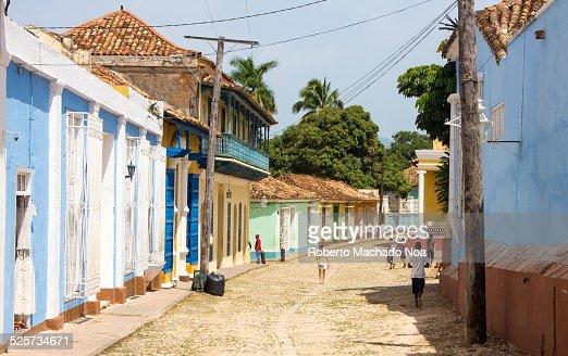 Cobblestone street of Trinidad,Cuba