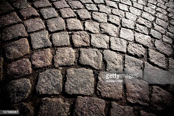 Cobblestone victorian road