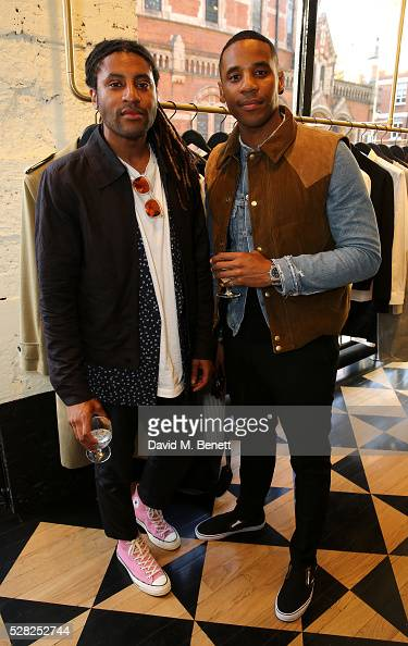 Cobi Yates and Reggie Yates attend Ami Mayfair Store Opening on May 4 2016 in London England