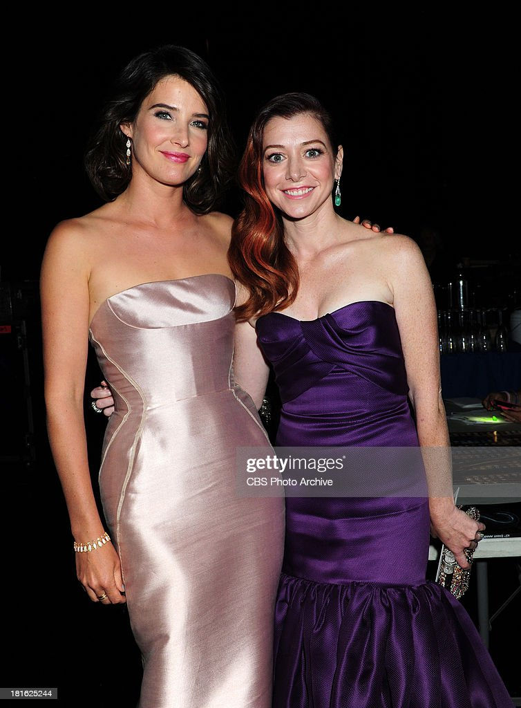 Cobie Smulders and Alyson Hannigan at the 65th Primetime Emmy Awards which will be broadcast live across the country 8:00-11:00 PM ET/ 5:00-8:00 PM PT from NOKIA Theater L.A. LIVE in Los Angeles, Calif., on Sunday, Sept. 22 on the CBS Television Network.