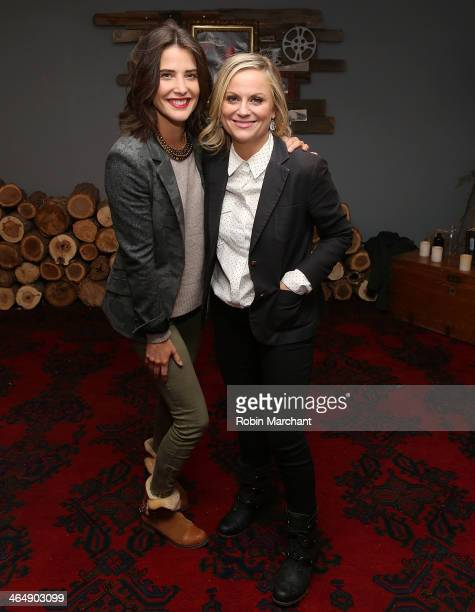 Cobie Smulders and Amy Poehler attend YouTube On Main Street Hosts Event Celebrating The Premiere Of 'They Came Together' At The Sundance Film...