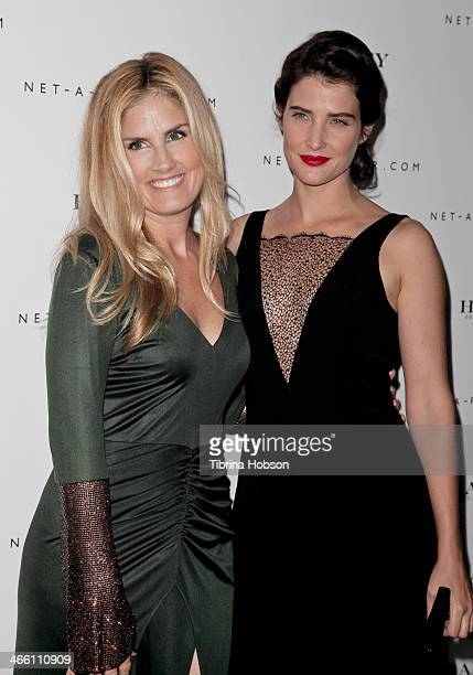 Cobie Smulders and Mary Alice Haney attends the Haney PretACouture launch hosted by NetAPorter at mmhhmmm at The Standard Hollywood on January 30...