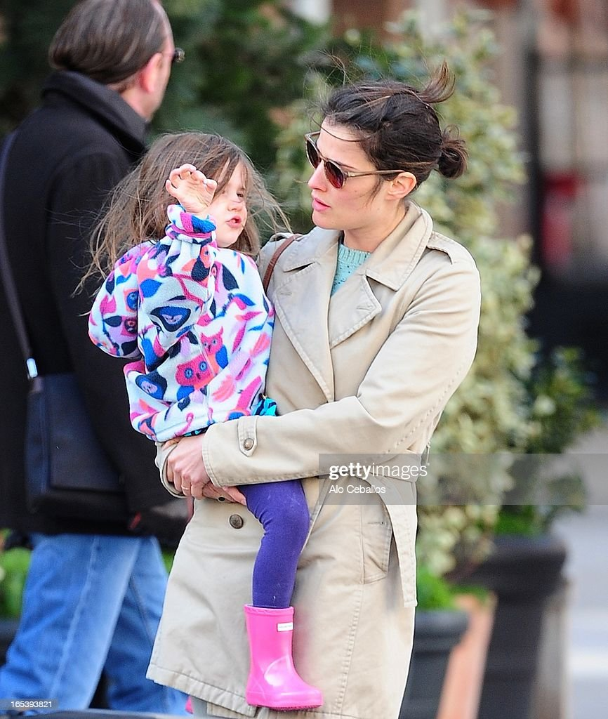Cobie Smulders and Shaelyn Cado Killam are seen in Tribeca on April 3, 2013 in New York City.