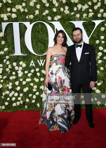 Cobie Smulders and Taran Killam attend the 2017 Tony Awards at Radio City Music Hall on June 11 2017 in New York City