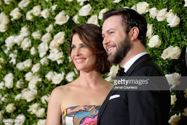 Cobie Smulders and Taran Killam attends the 2017 Tony Awards at Radio City Music Hall on June 11 2017 in New York City