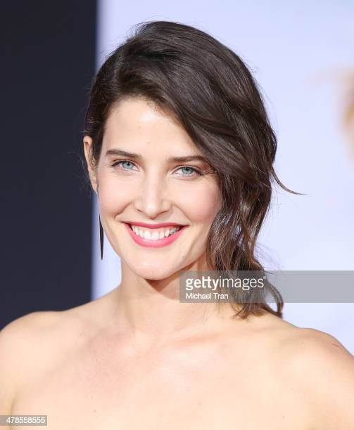 Cobie Smulders arrives at the Los Angeles premiere of 'Captain America The Winter Soldier' held at the El Capitan Theatre on March 13 2014 in...