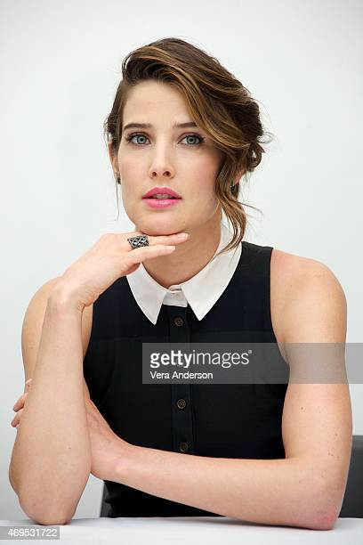 Cobie Smulders at the 'Avengers Age of Ultron' Press Conference at Walt Disney Studios on April 11 2015 in Burbank California