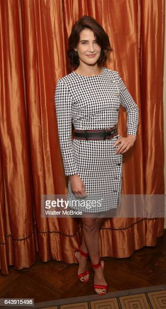 Cobie Smulders attends the Broadway cast photo call for 'Present Laughter' at The Royal Suite at the Carlyle on February 22 2017 in New York City