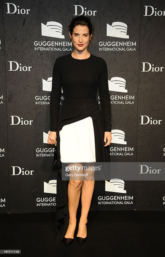 <a gi-track='captionPersonalityLinkClicked' href=/galleries/search?phrase=Cobie+Smulders&family=editorial&specificpeople=739940 ng-click='$event.stopPropagation()'>Cobie Smulders</a> attends the Guggenheim International Gala, made possible by Dior, Pre-party hosted by The Young Collector's Council at the Guggenheim Museum on November 6, 2013 in New York City.