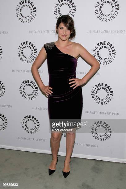 Cobie Smulders attends the 'How I Met Your Mother' 100th episode party at The Paley Center for Media on January 7 2010 in Beverly Hills California