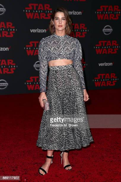 Cobie Smulders attends the premiere of Disney Pictures and Lucasfilm's 'Star Wars The Last Jedi' at The Shrine Auditorium on December 9 2017 in Los...