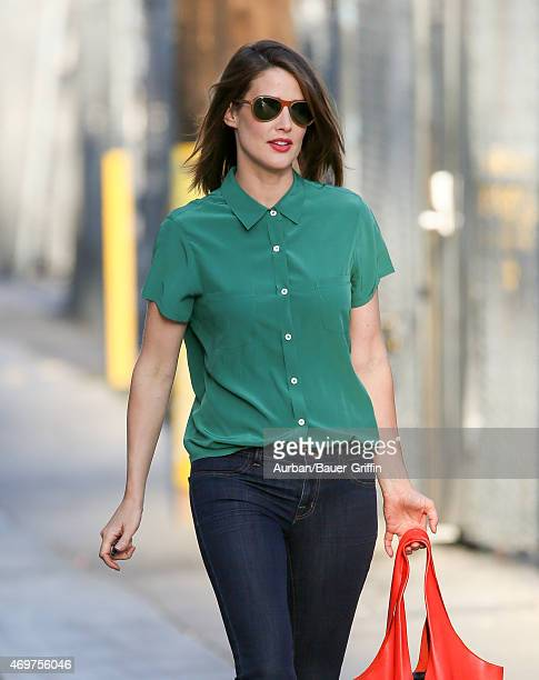Cobie Smulders is seen in Hollywood on April 14 2015 in Los Angeles California