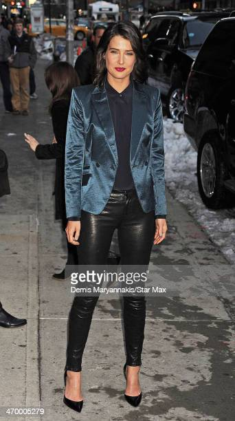 Cobie Smulders is seen on February 17 2014 in New York City