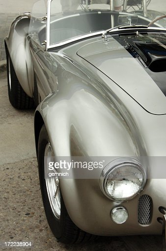 cobra hot rod car in silver paint stock photo getty images. Black Bedroom Furniture Sets. Home Design Ideas