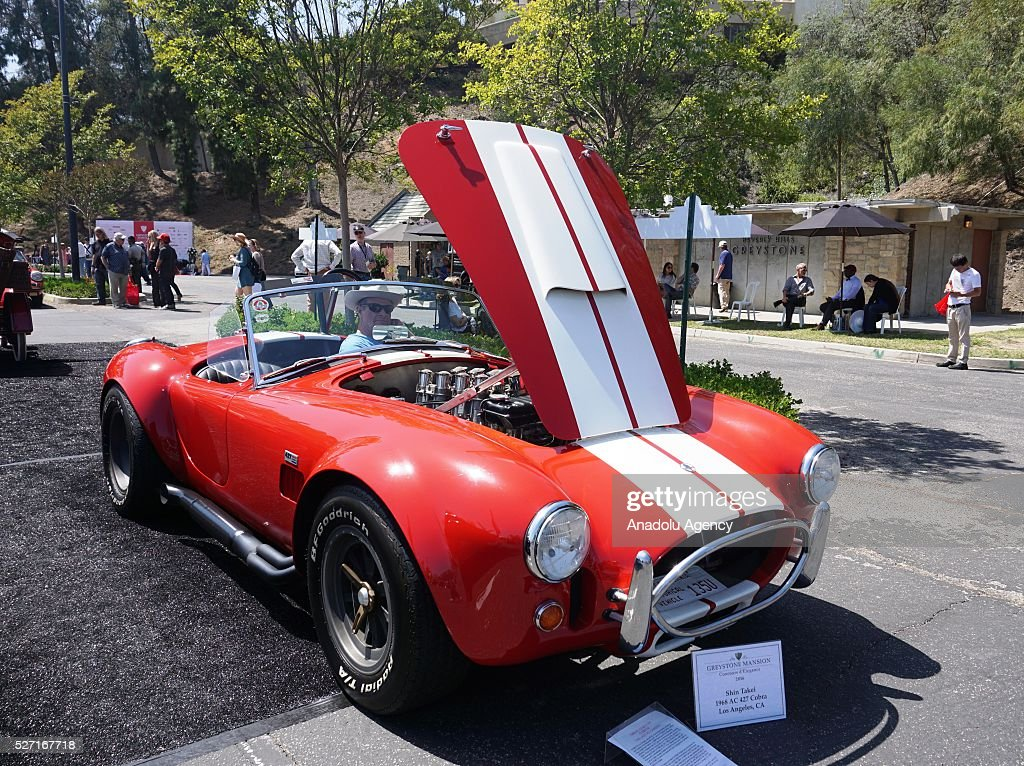 Cobra is on display during Concours d'Elegance at Greystone Mansion in Beverly Hills, Los Angeles, USA, on May 2, 2016. 140 classic automobiles from 18 different categories are displayed during the Concours d'Elegance classic automobile show.